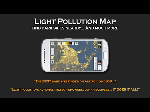 Light Pollution Map - Dark Sky & Astronomy Tools - Apps on