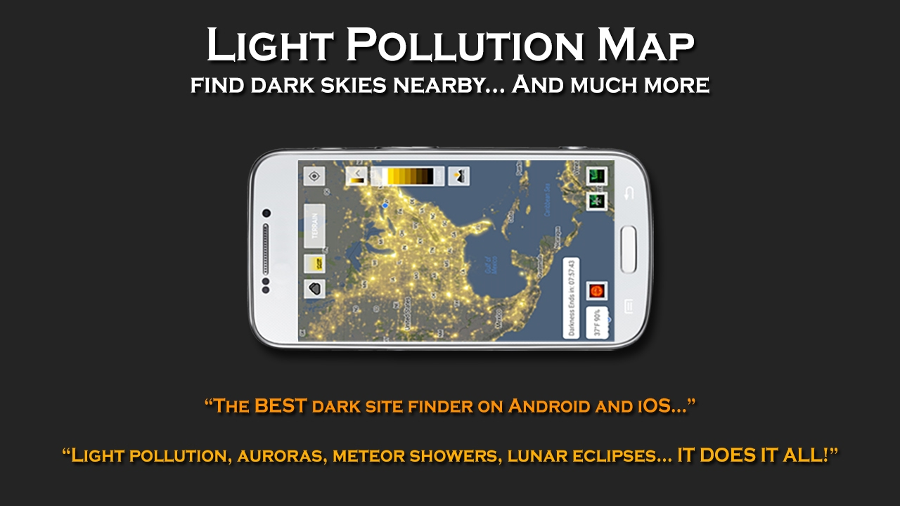 Light Pollution Map - Photographer's nal on google android, game android, evernote android, gmail android, skype android, chrome android,