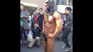 渋谷に出現したバットマン   マッチョマン【2ch】