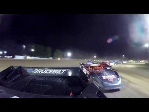Late Model Feature race, rear view look with Carl Ries at Crystal Motor Speedway, Michigan!!