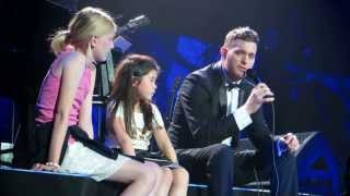 Michael Buble Live At The O2 Arena 2 Little Girls On Stage 03/07/2013 HD