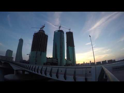 Sunset near Bahrain Financial Harbour -Gopro