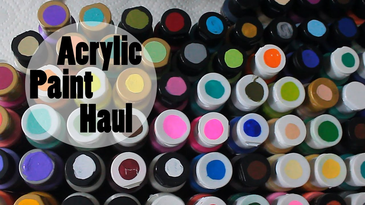 Acrylic Paint Haul | Hobby Lobby, Michael\'s & Walmart - YouTube
