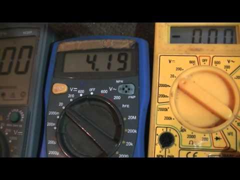 Multimeter Vergleich Gleichspannung messen und Innenwiderstand - eflose #512