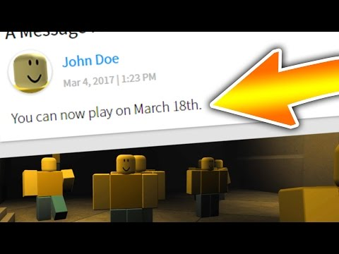 HOW TO PLAY ROBLOX ON MARCH 18TH (JOHN DOE)