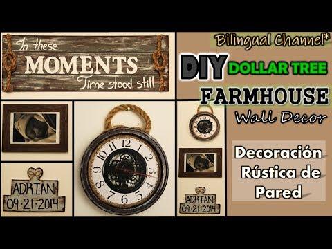 Dollar Tree DIY | Farmhouse Wall Decor | Mother's Day Ideas | English CC | Decoración de Pared