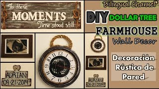 Dollar Tree DIY | Farmhouse Wall Decor | Mother's Day Ideas | English CC | Decoración de Pared