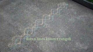 big kolam with dots step by step , 24 dots rangoli design , sikku kolangal , melika muggulu images