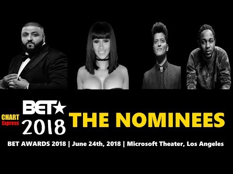 BET★ Awards 2018 - Nominees | Black Entertainment Television Awards 2018 | ChartExpress