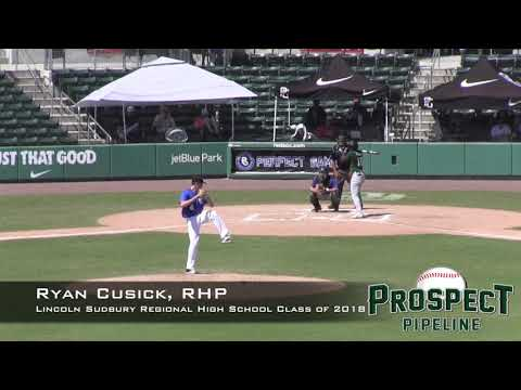 Ryan Cusick Prospect Video, RHP, Lincoln Sudbury Regional High School Class of 2018, CF
