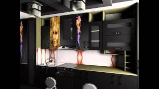 цветовые решения для кухни, оформление фасадов,стен,освещения