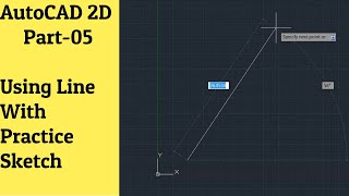 Learn AutoCAD (2D Drafting)- Line Command with Practice Sketch in AutoCAD