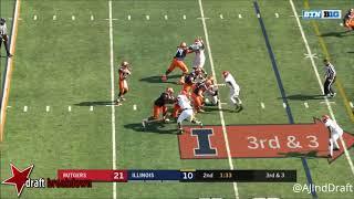 Kemoko Turay (Rutgers EDGE) vs Illinois - 2017