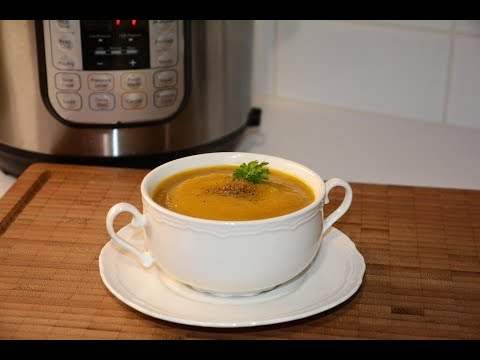 Instant Pot Bean and Butternut Squash Soup