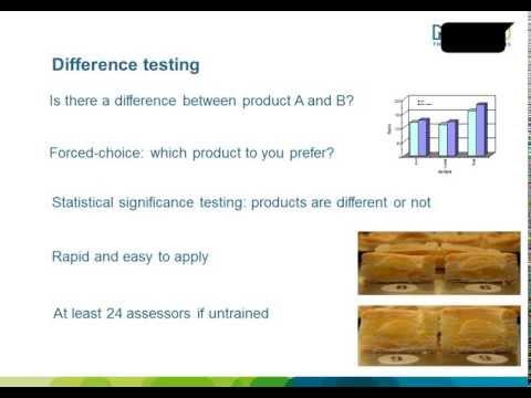 Webinar Sensory evaluation of foods: Basic techniques