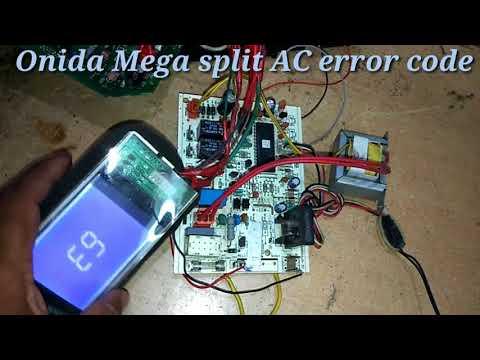 Onida Ac errors codes E9,E7,E6,E5