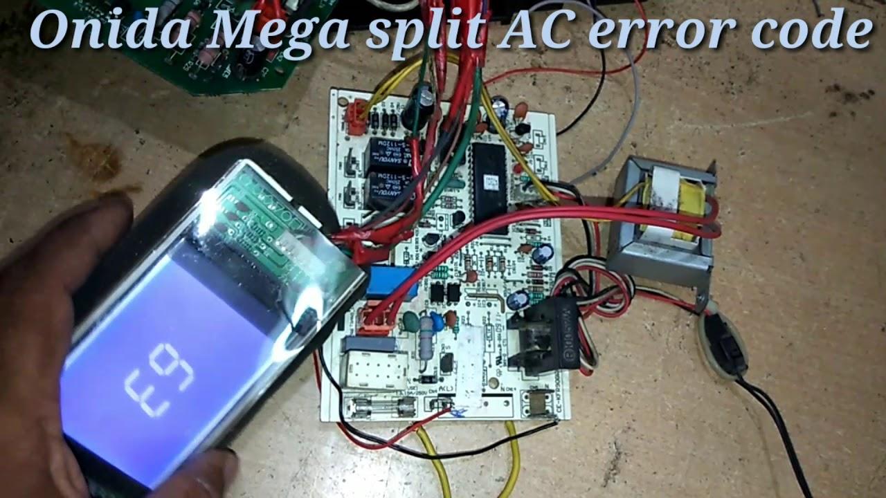 Onida Ac errors codes E9,E7,E6,E5 - Vidly xyz