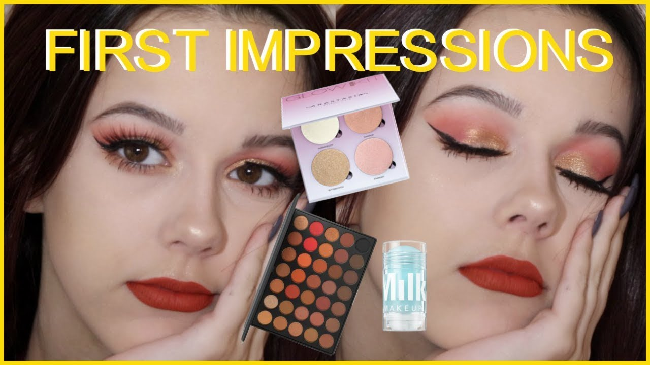 c0d7bd47bdd FULL FACE OF FIRST IMPRESSIONS | ANASTASIA, COLOURPOP, MORPHE, AND MORE