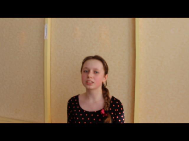 Изображение предпросмотра прочтения – ВикторияЗапорожан читает произведение «Она сидела наполу…» Ф.И.Тютчева