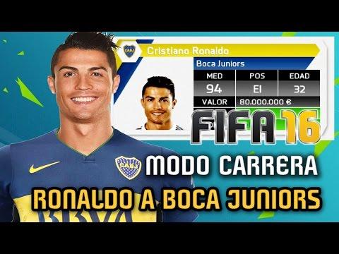 CRISTIANO RONALDO  a BOCA JUNIORS!!!! Modo Carrera - FIFA 16