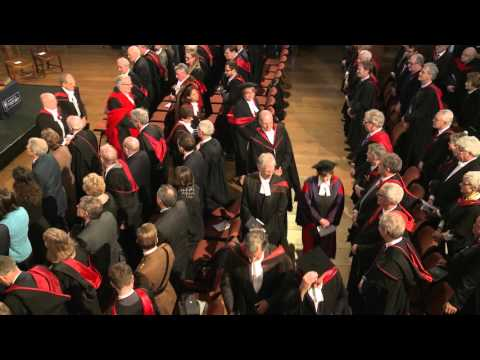 Queen's Choir singing at Oxford University Vice Chancellor Installation