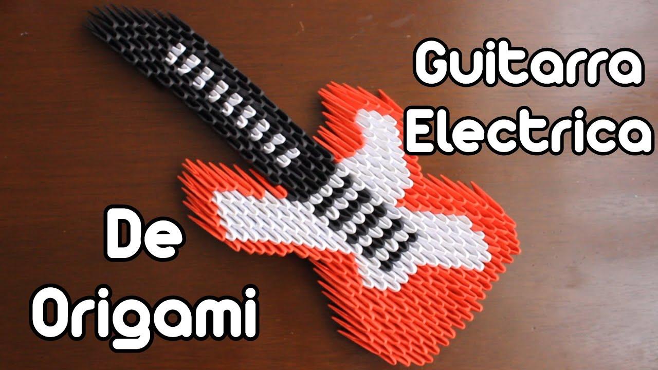 Origami Electric Guitar / Guitarra Eléctrica Origami 3D - YouTube