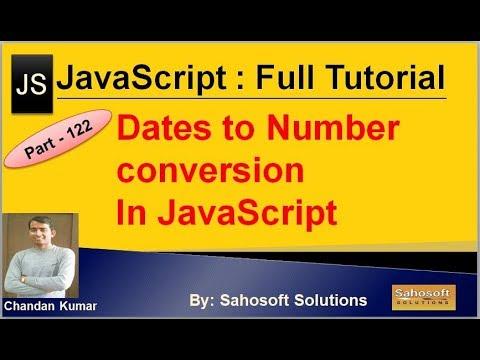 Dates to Numbers Conversion in JavaScript   JavaScript Full Tutorial in Hindi thumbnail