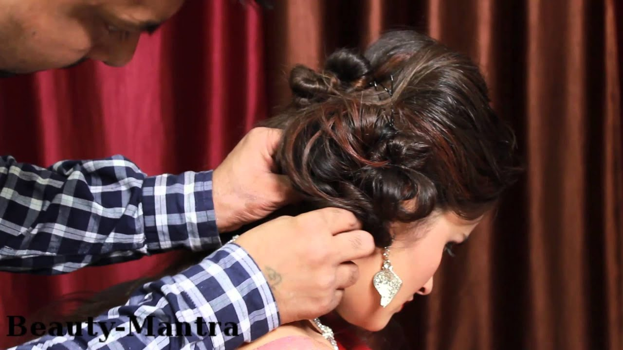 bridal hairstyle tutorial messy jura with artifical braid - youtube