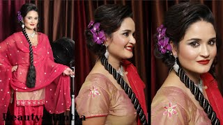 Bridal Hairstyle Tutorial Messy Jura With Artifical Braid Thumbnail