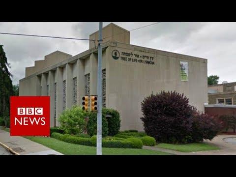 Pittsburgh shooting: Police audio of capture - BBC News