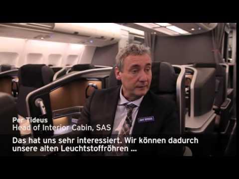 Jungfernflug für innovative Kabinenbeleuchtung