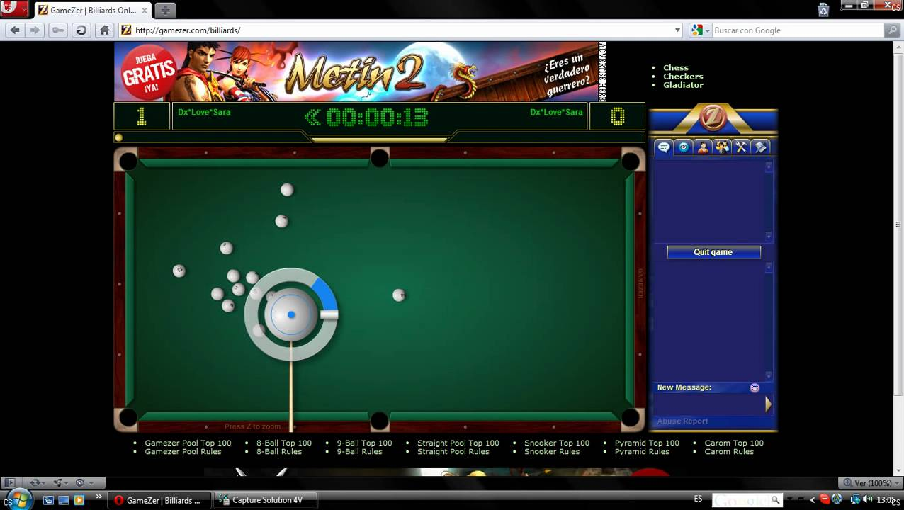 gamezer billiards pc gratuit