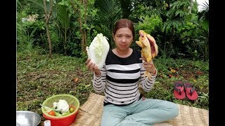 khmer food recipe - cooking Chicken with Vegetable - cooking eating Delicous