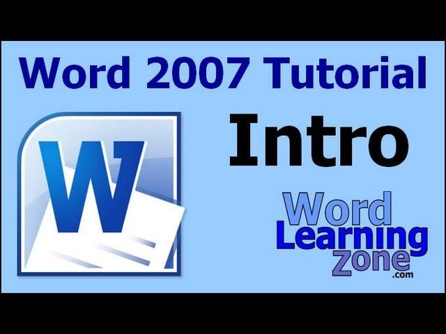 Microsoft Word 2007 Basic  Tutorials