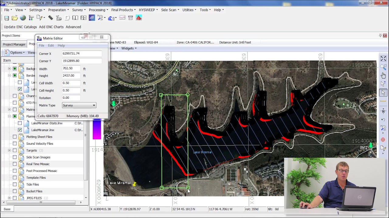 Getting Started with HydroSurveyor and HYPACK Chapter 6 - Defining a Matrix  File