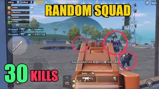 Knocked Out Three Times | 30 Kills Random Squad | PUBG Mobile