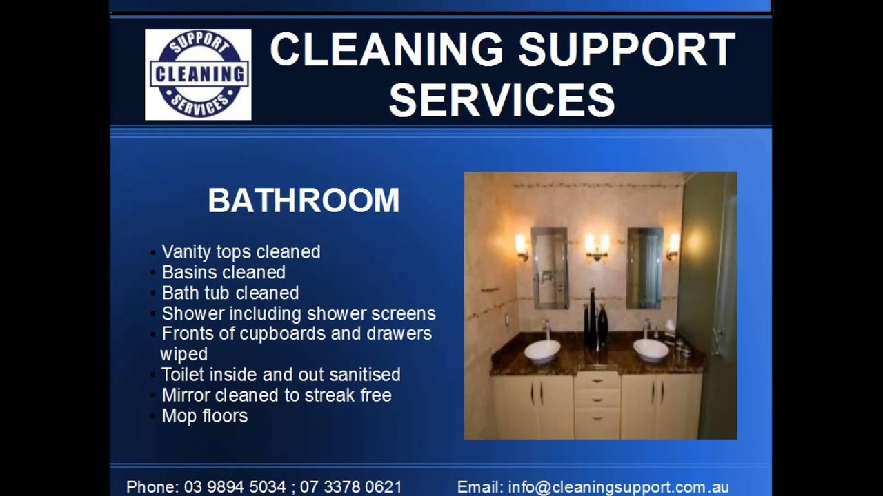 Cleaning Support Services - Residential Cleaning Checklist - YouTube