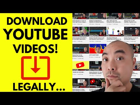 HOW TO DOWNLOAD YOUTUBE VIDEOS IN HIGH QUALITY AND LOW QUALITY LEGALLY! (YouTube Video Backups)