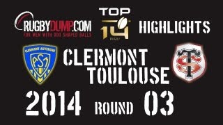 Rugby in France 2013 2014 round 03 Clermont Toulouse