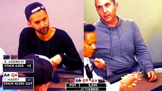 Levelling Wars End in a GIGANTIC $22,000 Pot! (1100 BBs!!!) ♠ Live at the Bike!