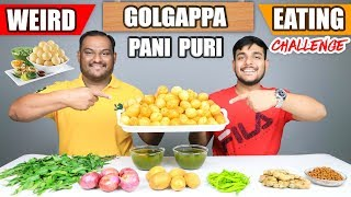 EPIC GOLGAPPA / PANI PURI EATING CHALLENGE | Spicy Golgappa Eating Competition | Food Challenge