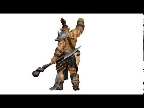 Orc Male Shaman 3D Character Modeling for 3D Printing