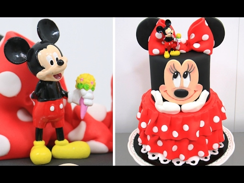 How To Make A Minnie Mouse Cake Amazing Birthday Cake Idea By Cakes Stepbystep Youtube