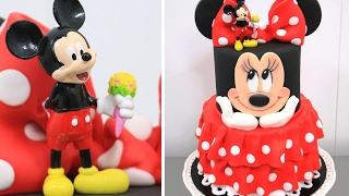 How To Make a Disney MINNIE MOUSE Cake - Pastel de la Minnie by Cakes StepbyStep
