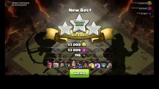 Clash of Clans- Serangan WAR TH 8 GOWIPE strategi