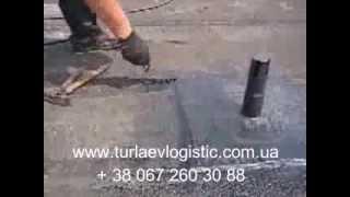 Как покрыть крышу рубероидом(Уклыдка рубероида на плоской крыши, установка вентиляционных выходов (флюгарок), 2013-08-07T08:58:21.000Z)