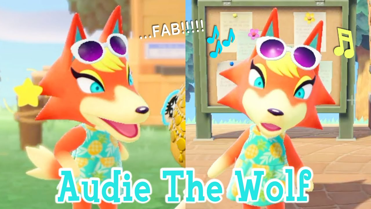 Audie The Wolf Peppy Villager Animal Crossing New Horizons ...