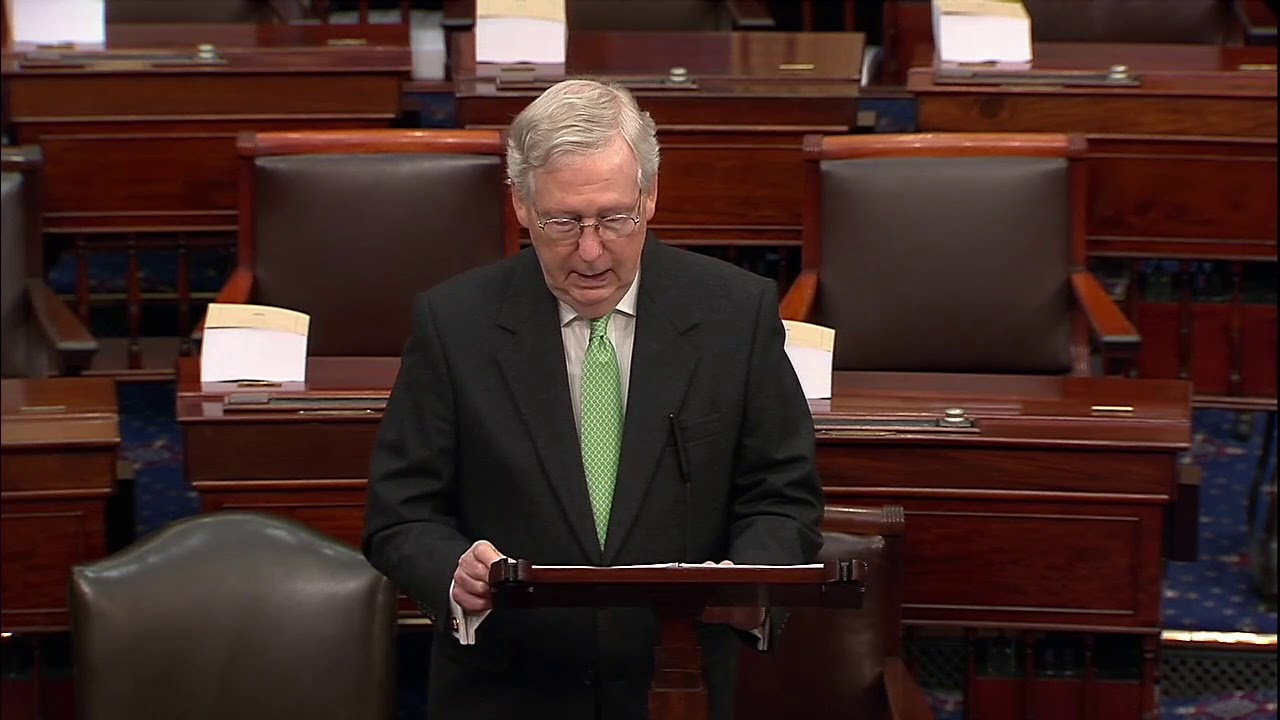 "DIFFERENT RULES: Mitch McConnell BLASTS Democrats Over Impeachment ""Charade"""