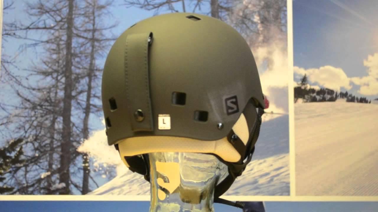 revendeur ed283 0e658 2015 Salomon Brigade Ski Helmet - black matt 360° View - Sail and Ski