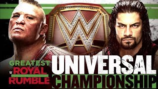 WWE Greatest Royal Rumble Simulation Brock Lesnar Vs Roman Reigns WWE Universal Championship